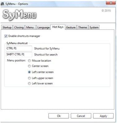 SyMenu: Lanzador y reemplazo del menú de inicio portátil para Windows