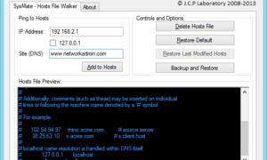 SysMate Hosts File Walker: Software gratuito para administrar el archivo de Hosts de Windows