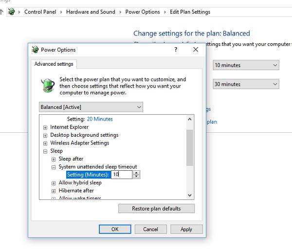 El equipo con Windows 10 entra en modo de suspensión demasiado pronto