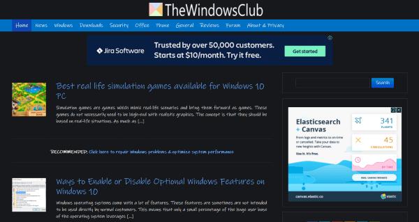 Habilitar el modo Oscuro en cualquier sitio web usando Dark Reader para Chrome y Firefox
