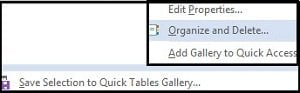 Cómo guardar plantillas de tabla en Word 2013