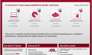 McAfee TechCheck: Software gratuito para analizar el PC en busca de problemas
