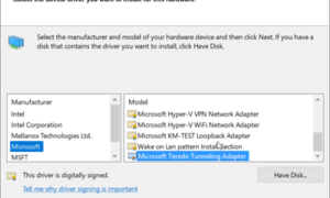 Falta la pseudo-interfaz del túnel Teredo en Windows 10