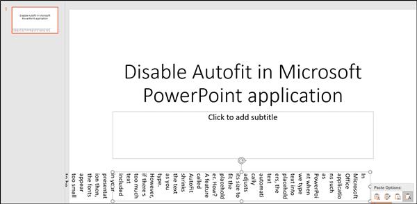 Cómo desactivar la función de ajuste automático del tamaño del texto en PowerPoint 4