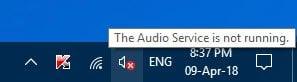 El servicio de audio no funciona en Windows 10/8/7 1