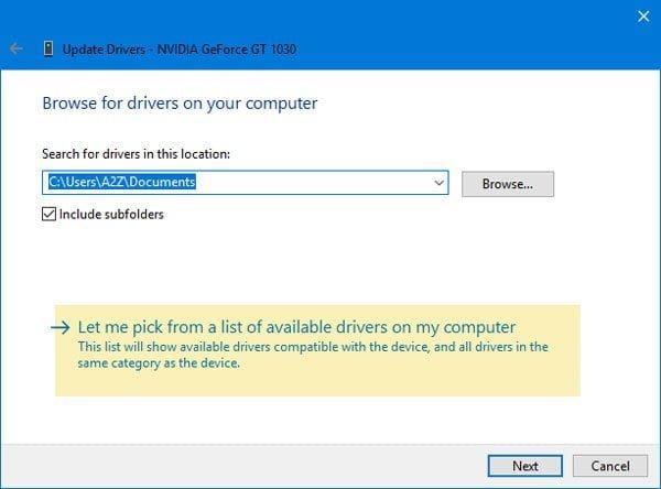 El archivo INF que seleccionó no admite este método de error de instalación en Windows 10/8/7