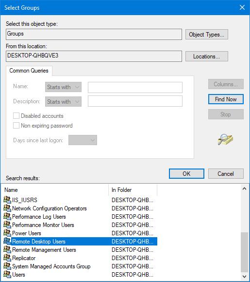 La conexión fue denegada porque la cuenta de usuario no está autorizada para el inicio de sesión remoto. 2