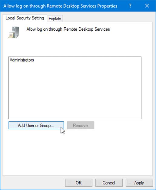 La conexión fue denegada porque la cuenta de usuario no está autorizada para el inicio de sesión remoto. 3
