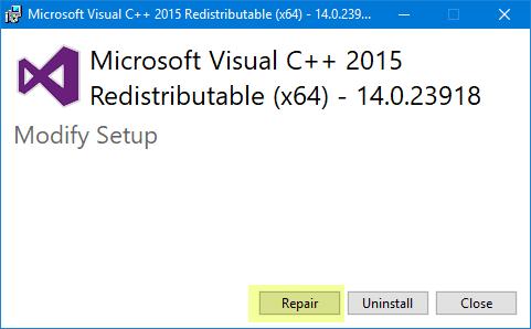 El programa no puede iniciarse porque falta api-ms-win-crt-runtime-l1-1-0.dll