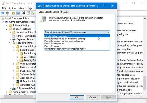 Fijar La operación solicitada requiere elevación, Error 740