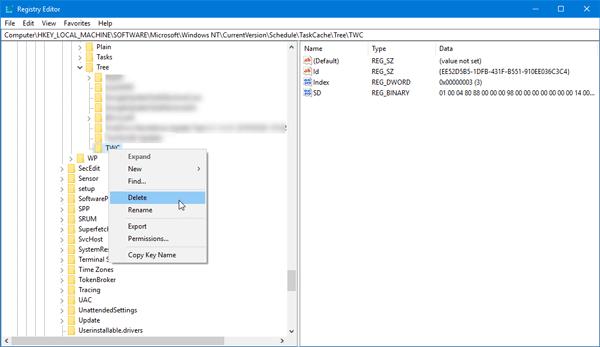 """La tarea seleccionada """"{0}"""" ya no existe en el Programador de tareas de Windows 10."""