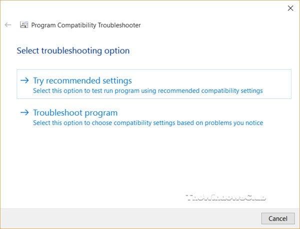 Este programa no se ejecuta en Windows 10 2