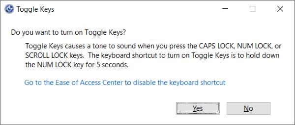 Configuración de teclado de fácil acceso en Windows 10