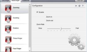 Usando el botón central del ratón y el Touchpad en Windows