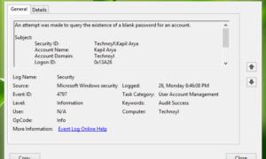 Cómo realizar un seguimiento de la actividad de los usuarios en el modo de grupo de trabajo en Windows 10/8/7