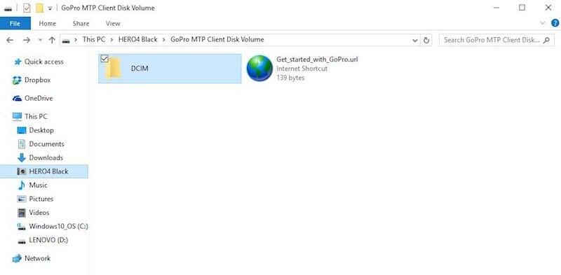 Cómo transferir archivos de la cámara GoPro a un PC con Windows 10