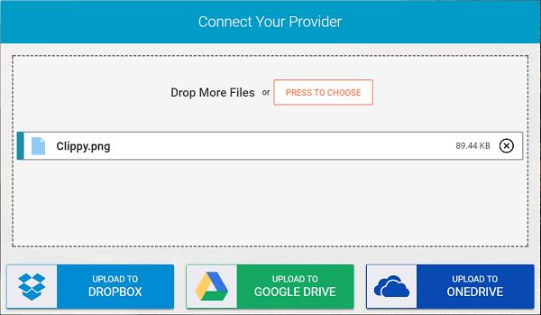 Whisply le permite transferir archivos a través del servicio Cloud Storage utilizando Encryption 2