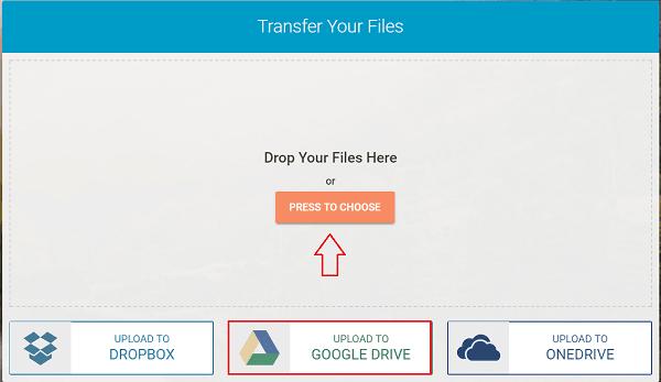 Whisply le permite transferir archivos a través del servicio Cloud Storage utilizando Encryption 1