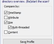 Sincronizar archivos, carpetas y directorios en Windows 10 con TreeComp