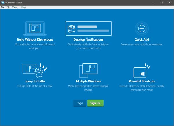La aplicación web basada en navegador Trello ahora está disponible como una aplicación de Windows 10