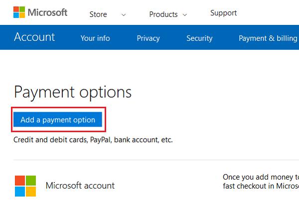 Solucionar problemas y problemas de pago de la cuenta de Microsoft