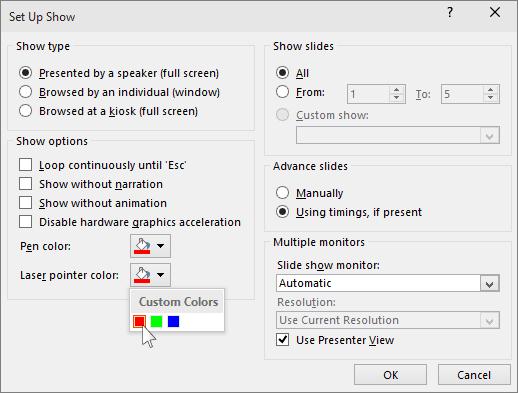 Convierta su ratón en un puntero láser en PowerPoint 3