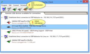 Utilice el USB compartido a través de la red de forma remota con USB Redirector Client