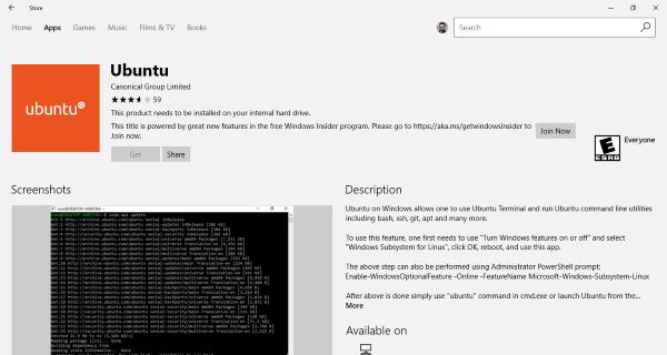 Descargar Ubuntu en Windows 10 desde la tienda de Windows