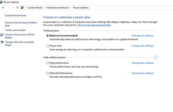 Cómo habilitar Ultimate Performance Power Plan en Windows 10 2