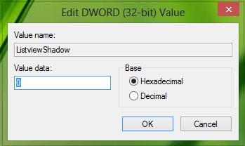 No se pueden eliminar las sombras de las etiquetas de iconos en el escritorio de Windows.