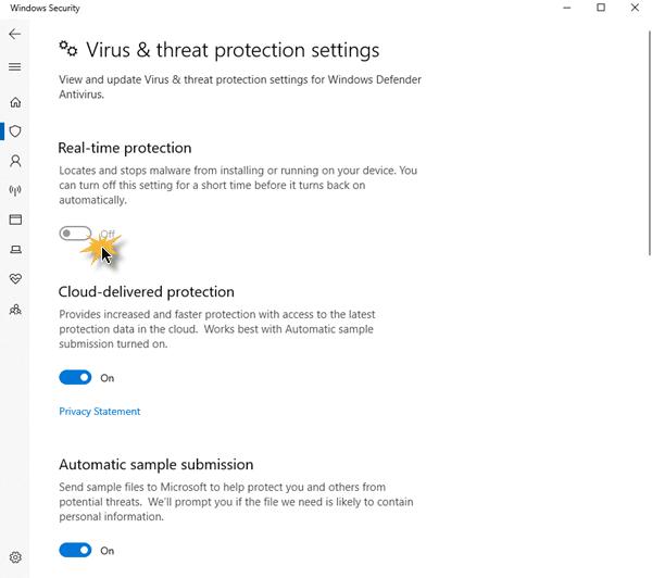 Cómo habilitar o iniciar Windows Defender manualmente en Windows 10