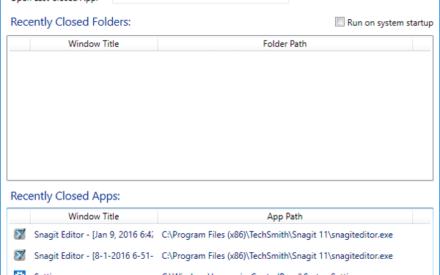 DeshacerCerrar para Windows reabre las carpetas y aplicaciones cerradas recientemente