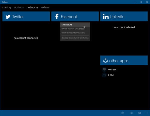 UniShare le permite compartir en Facebook, Twitter y LinkedIn a la vez 2