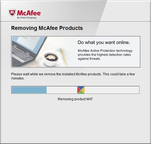 Cómo desinstalar completamente McAfee Internet Security de Windows 10