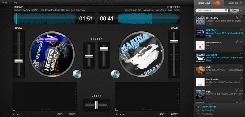 Hasta la mañana: Sistema de música en línea basado en la nube para disc jockeys