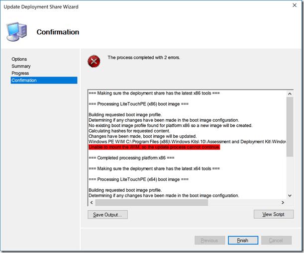 Windows ADK para Windows 10 v1703: Problemas conocidos, Solución y arreglo 1