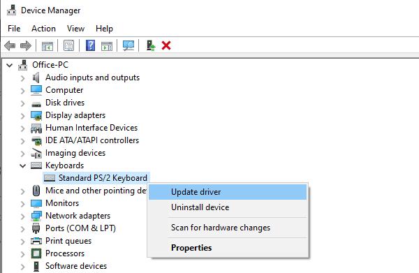 La barra espaciadora o la tecla Enter no funcionan
