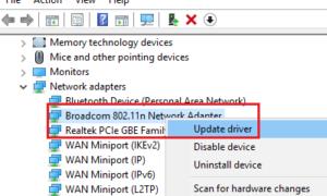 Windows no pudo encontrar un controlador para su adaptador de red