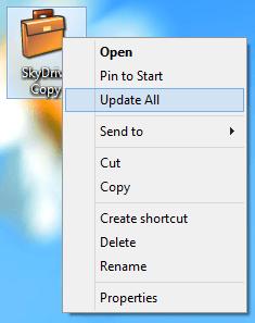 Sincronizar SkyDrive con almacenamiento externo en Windows 8, usando el maletín