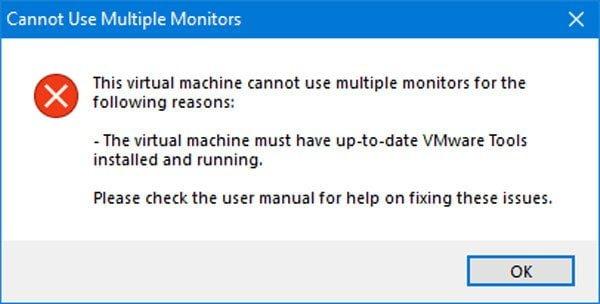 Cómo utilizar el monitor dual con la máquina virtual VMware