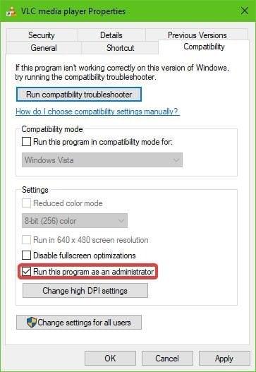Se ha producido un error al comprobar si hay actualizaciones en el VLC
