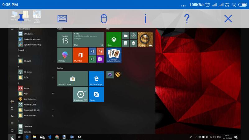 VNC Connect es un software de control remoto gratuito para Windows
