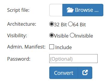 Convertir VBS a EXE usando la herramienta en línea o el software convertidor de VBScript