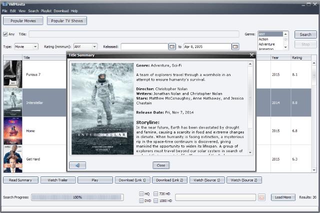 VidMasta es probablemente el mejor software para ver películas y programas de televisión en línea