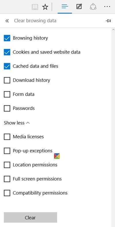 Cómo eliminar el historial de navegación, las cookies, los datos y la caché del navegador Edge