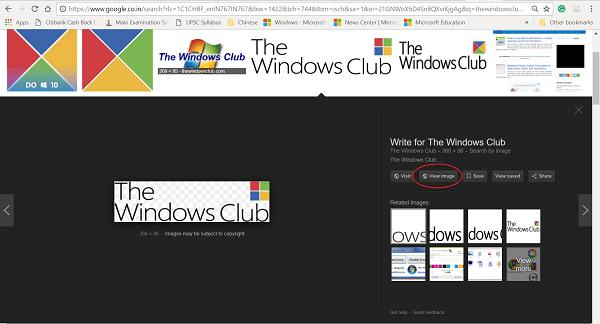 Volver a los botones Ver imagen y Buscar por imagen de los resultados de Google Image Search
