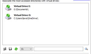 Subst. visual Cree unidades virtuales para sus carpetas; asigne el almacenamiento en la nube como unidades virtuales