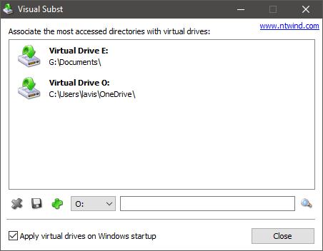 Subst. visual Cree unidades virtuales para sus carpetas; asigne el almacenamiento en la nube como unidades virtuales 1