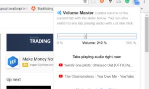 Ajuste el volumen en las pestañas de Google Chrome por separado mediante Volume Master
