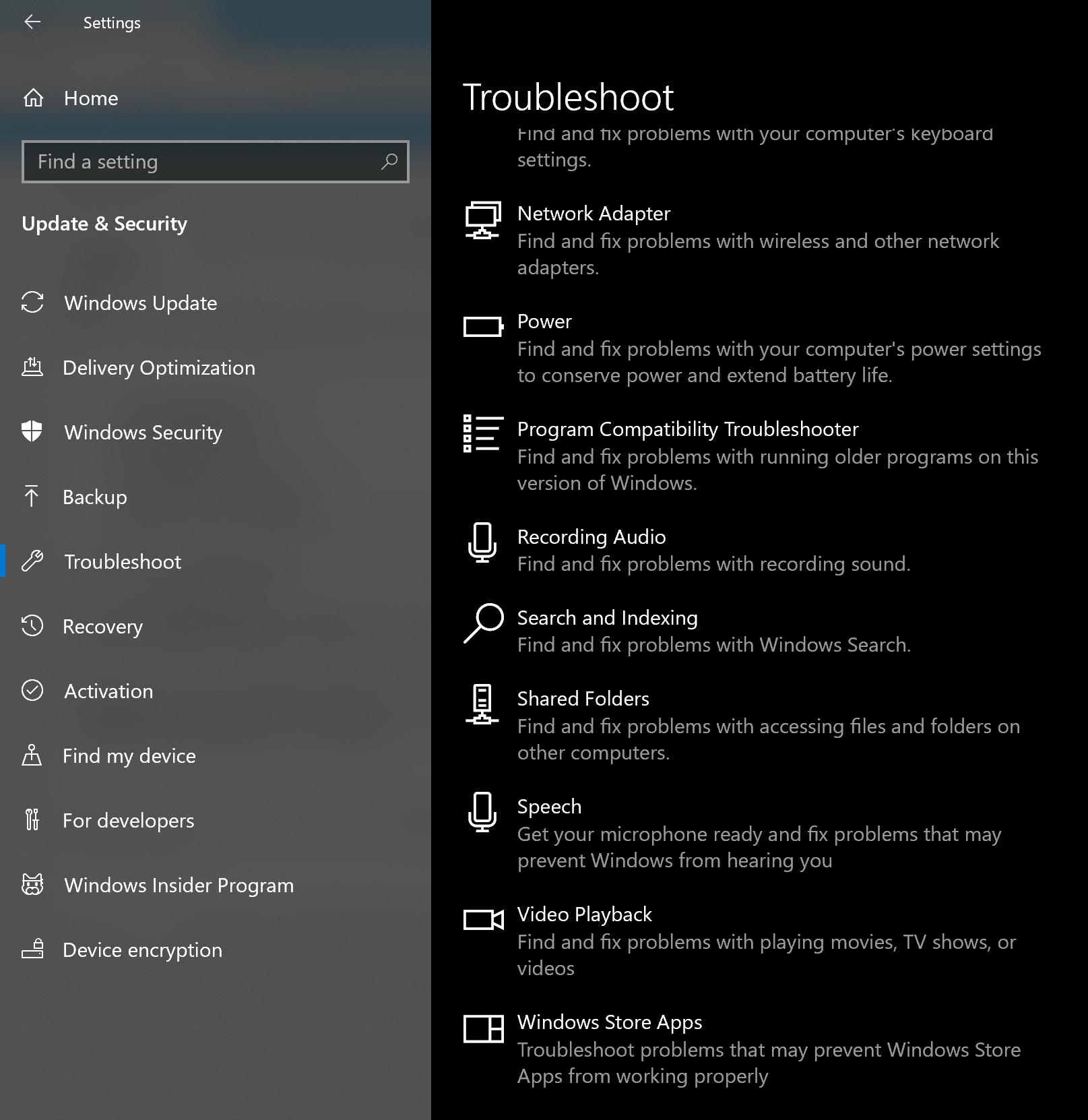 Código de error 0xa00f4243 para la aplicación Cámara en Windows 10 2
